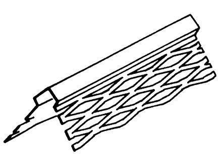 Krohvi nurgakaitse-majakliist 35/35/04 mm