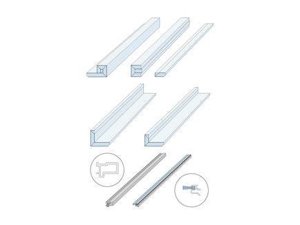Zargenlose Türlaibung Pocket Kit für Glastürblatt