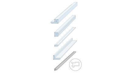 Zargenlose Türlaibung Pocket Kit für Holztürblatt