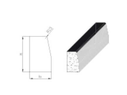 Dehnscheiben für Hochbordsteine 10 mm